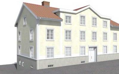 """Tio nya lägenheter i gamla """"taxihuset"""""""